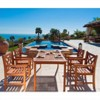 Wood 5 Piece Patio Dining Set in Brown-Pemberly Row - image 2 of 3