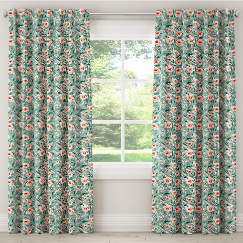 Blackout Curtain Lucha Rose Conifer Green - Cloth & Co. - image 1 of 6