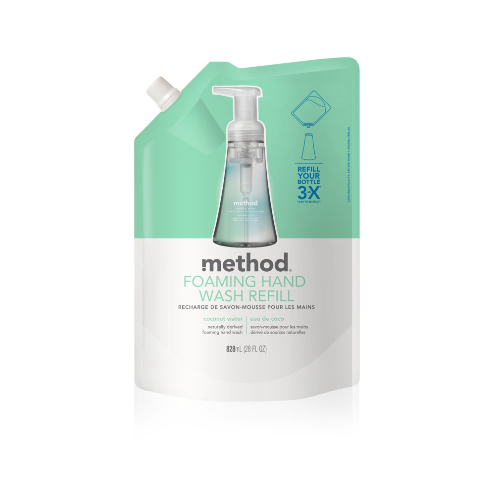 Image of Method Foaming Hand Soap Refill Coconut Water - 28oz