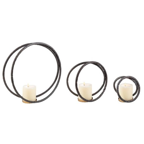 Brea Tealight Holder, Set of 3 - Foreside Home & Garden - image 1 of 1