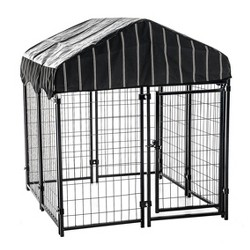 "Lucky Dog 60445 4'6"" x 4' x 4' Welded Wire Dog Kennel with Heavy Duty Cover"