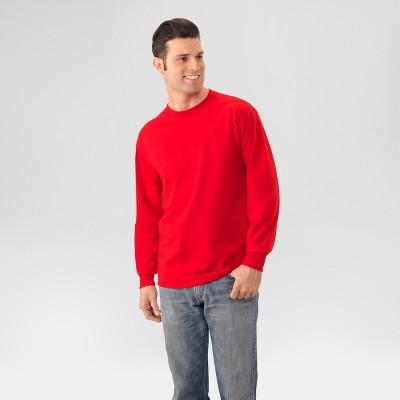 fba3f4a9c2a1e Men s Fruit Of The Loom® Long Sleeve T-Shirt Black -M   Target