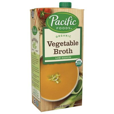 Broths: Pacific Foods Organic Low Sodium