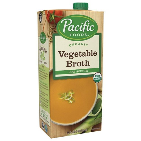 Pacific Foods Organic Low Sodium Vegetable Broth - 32oz - image 1 of 4