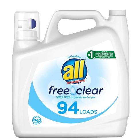 All Free Clear Liquid Laundry Detergent 94 Loads - 141 fl oz - image 1 of 3