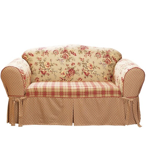 Lexington Sofa Slipcover Red - Sure Fit : Target