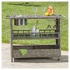 Puerta Wicker Barcart - Mixed Black- Christopher Knight Home - image 4 of 4