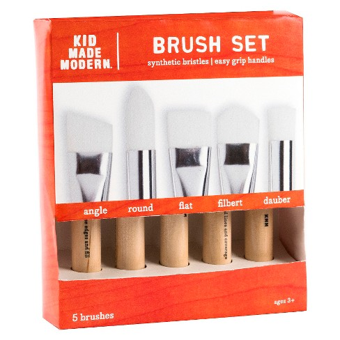 Kid Made Modern Paint Brush Set, 5ct - image 1 of 1