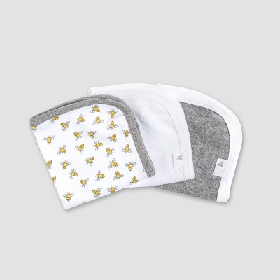 Burt's Bees Baby® Washcloths - White