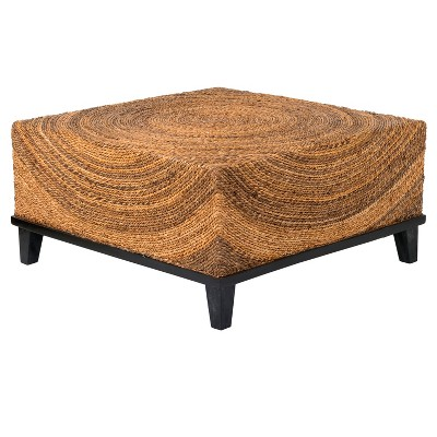 Chickasaw Abaca Square Coffee Table - Brown - East At Main