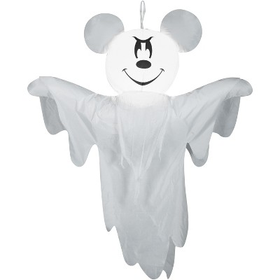 Gemmy Airblown Hanging Mickey as Ghost Disney, 4 ft Tall, white