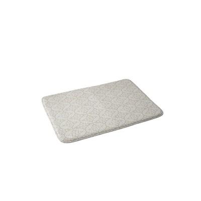 Little Arrow Design Co Modern Moroccan Foam Bath Mat Beige - Deny Designs