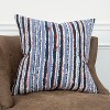 Stripe Decorative Filled Oversize Square Throw Pillow Blue - Rizzy Home - image 4 of 4