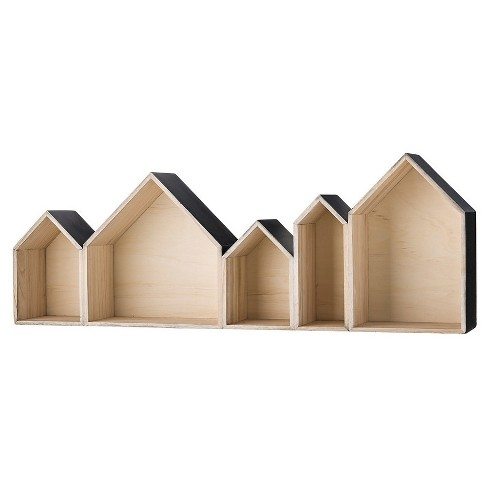 "Wood House Shaped Display Boxes - Natural/Black Truck Ship (37-1/4"") - 3R Studios - image 1 of 1"