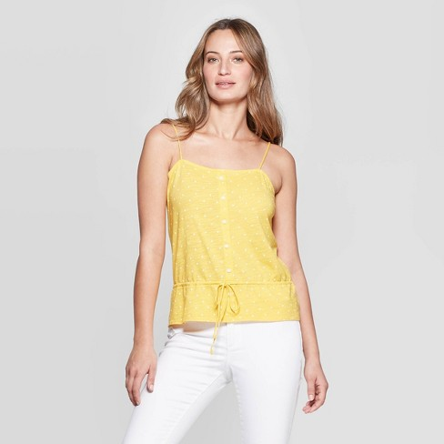 6f1915e4a16 Women's Sleeveless Crew Neck Peplum Tank Top Universal Thread™ Yellow