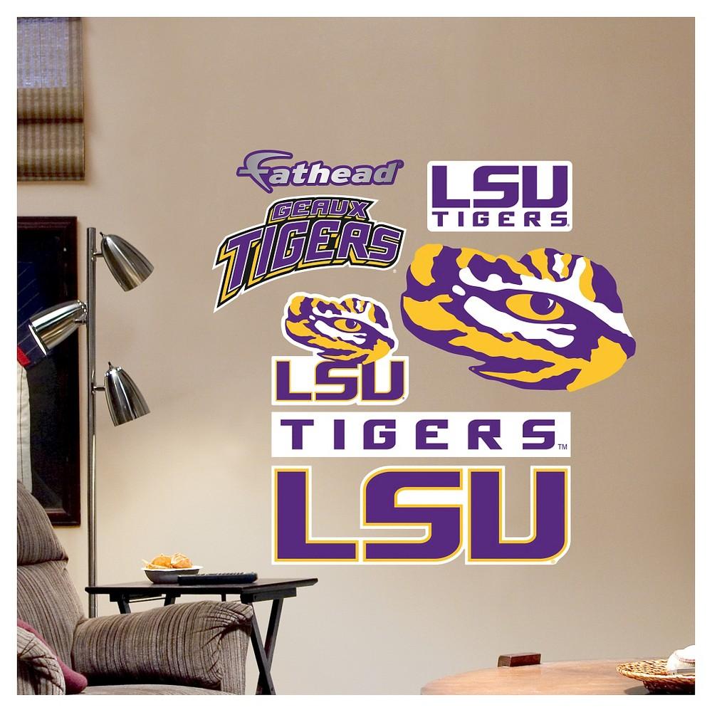 Decorative Wall Art Set Fathead 40 X 3 X 3 Lsu Tigers, Purple/Gold