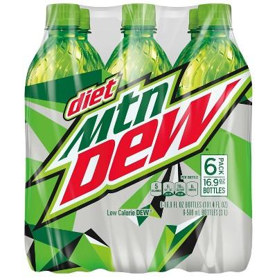 Diet Mountain Dew Citrus Soda - 6pk/16.9 fl oz Bottles