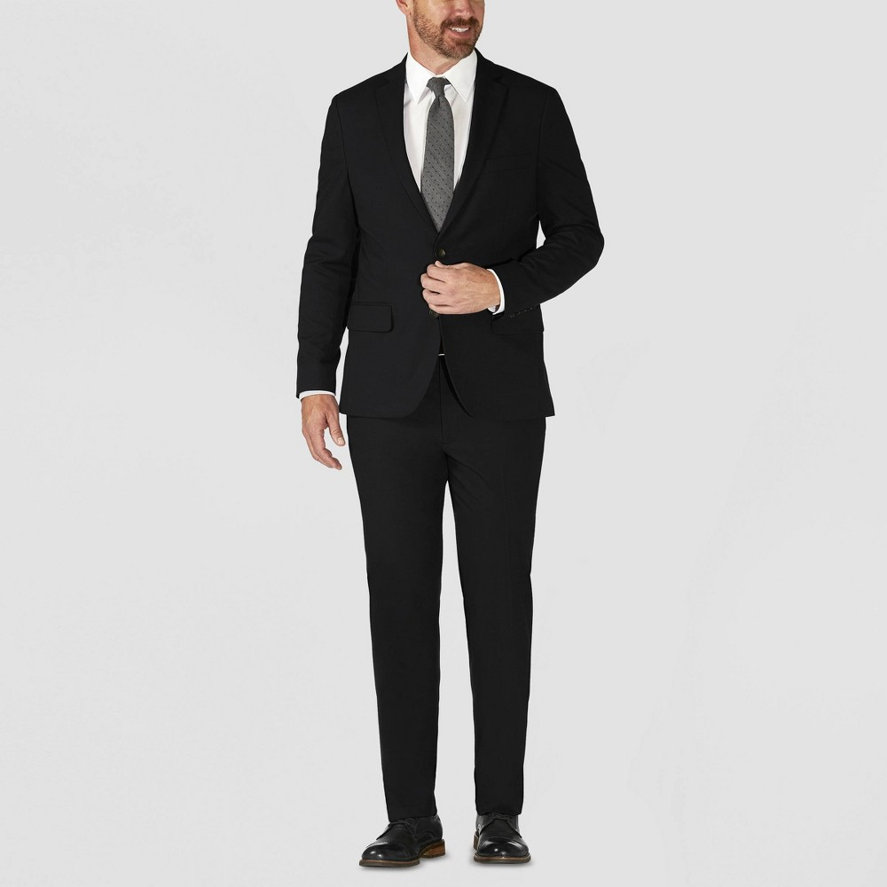Image of Haggar H26 Men's Big & Tall Tailored Fit Premium Stretch Suit Jacket - Black 44R