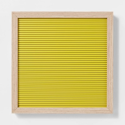 12 x 12  Letterboard Yellow - Room Essentials™