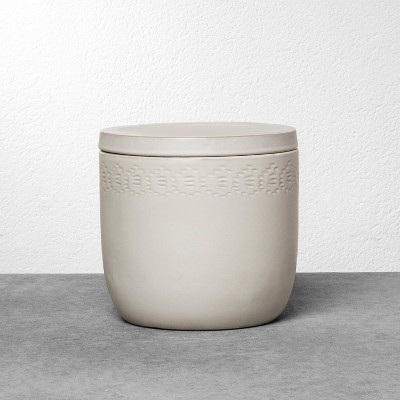Stoneware Storage Canister Medium - Cream - Hearth & Hand™ with Magnolia