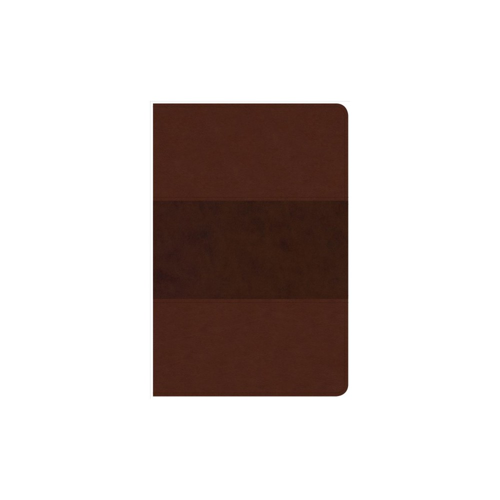 Holy Bible : Christian Standard Bible, Personal Size Reference Bible, Saddle Brown Leathertouch.