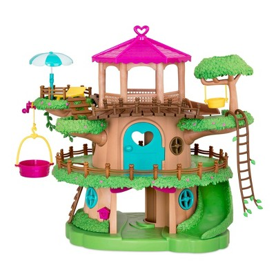 Li'l Woodzeez Toy Treehouse with Elevator 22pc - Treehouse Playset