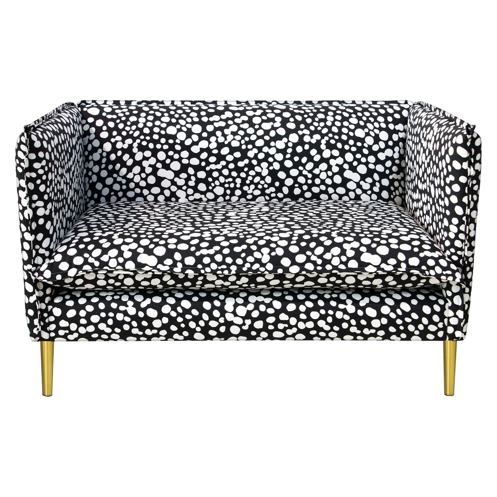 Image of French Seam Settee - Dancing Dots Black - Oh Joy!