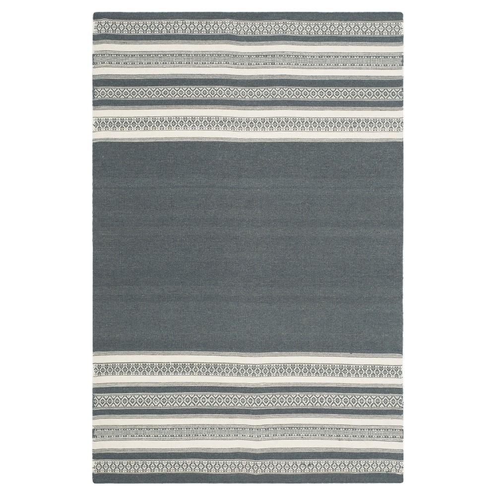 Porter Dhurrie Area Rug - Dark Gray (4' X 6') - Safavieh