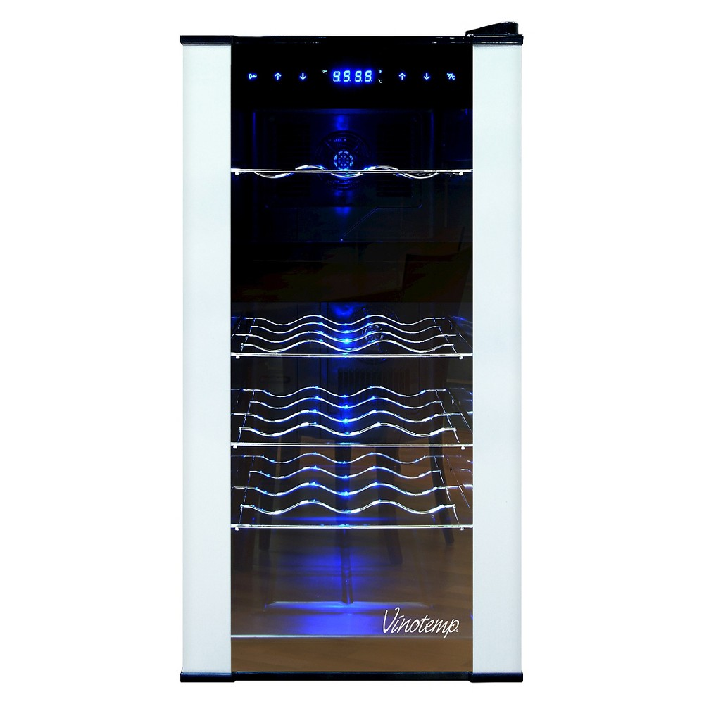 Vinotemp 18-Bottle Dual-Zone Thermoelectric Wine Cooler - Black VT-18PTED