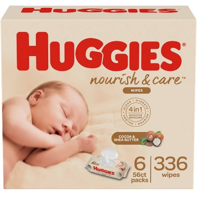 Huggies Nourish & Care Baby Wipes - 336ct