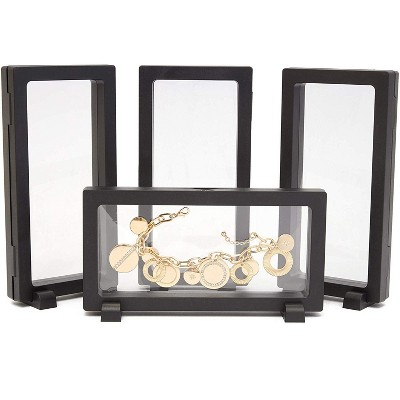 3D Floating Display Frame Storage Box Stamp Coin Stand Holder Jewelry Show Moral