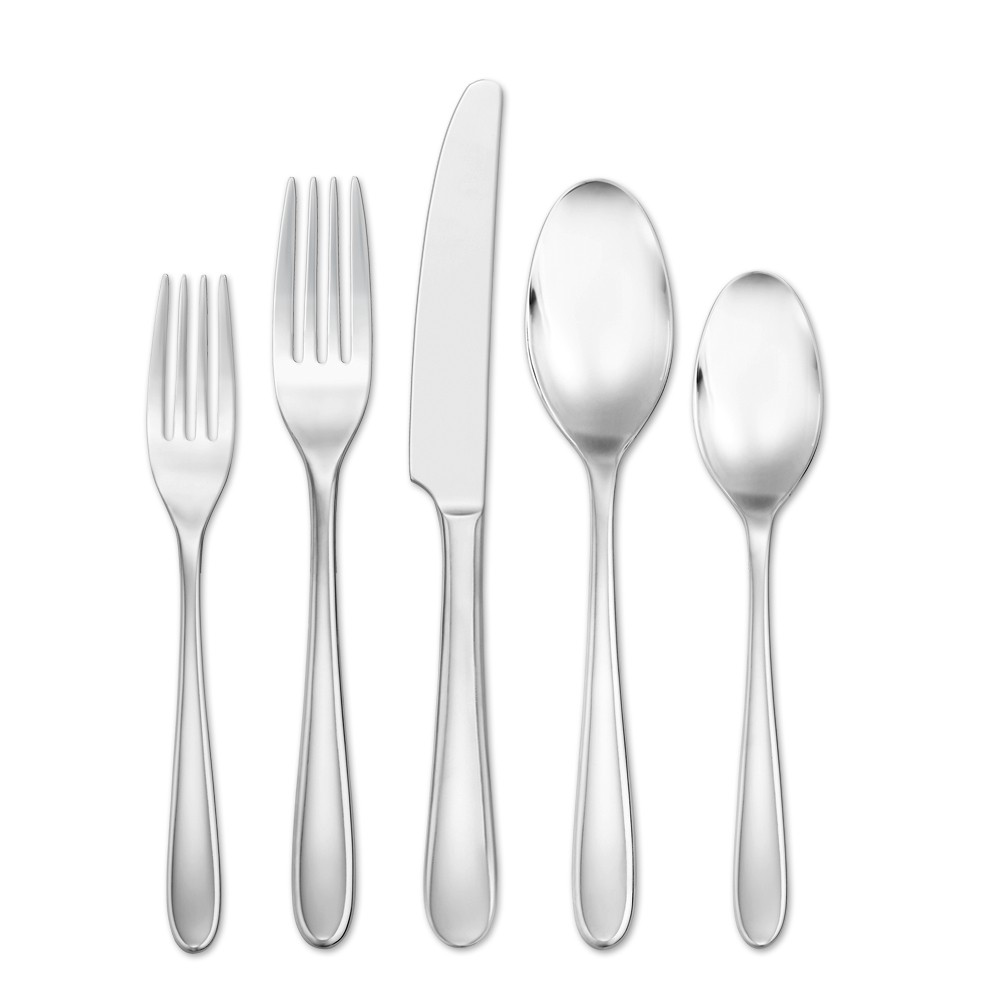 Image of Hampton Forge 20pc Stainless Steel Dory Silverware Set, Silver