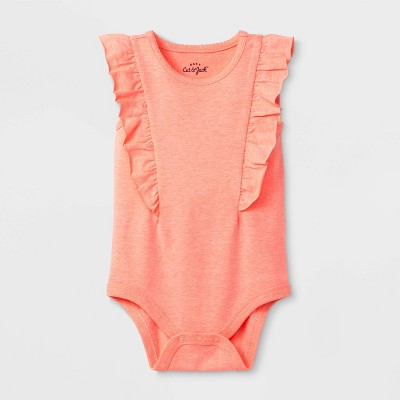 Baby Girls' Solid Tank Bodysuit - Cat & Jack™ Peach 3-6M