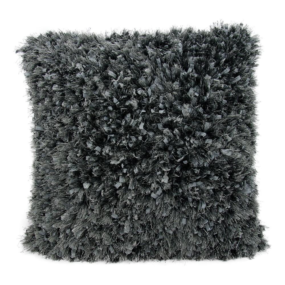 Coal (Grey) Solid Throw Pillow - Mina Victory