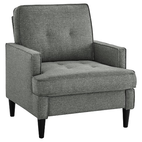Rosalie Mid Century Modern Chair Gray - Dorel Living - image 1 of 8