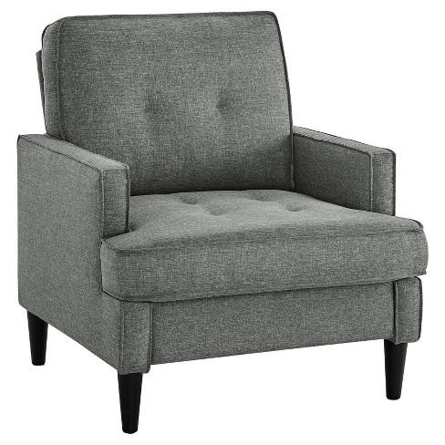 rosalie mid century modern chair gray dorel living target. Black Bedroom Furniture Sets. Home Design Ideas