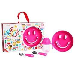 Munchkin Be Happy Dinnerware Gift Set - Pink