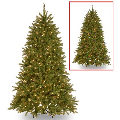 National Tree Company 6.5ft Pre Lit Dunhill Fir Artificial Tree With 600 Dual Color Led Lights And Powerconnect by National Tree Company