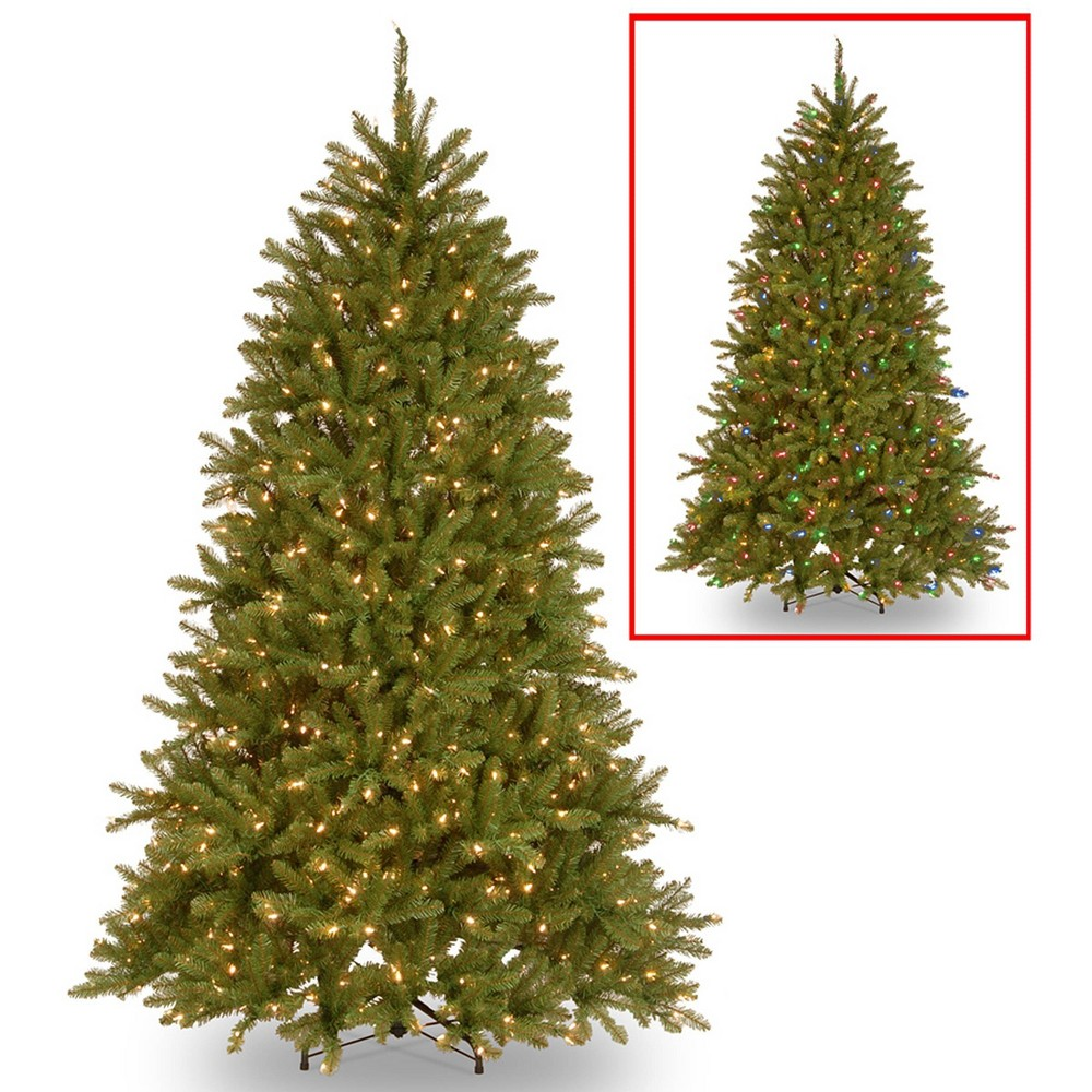 6 5ft National Christmas Tree Company Pre Lit Dunhill Fir Artificial Christmas Tree With 600 Dual Color Led Lights 38 Powerconnect