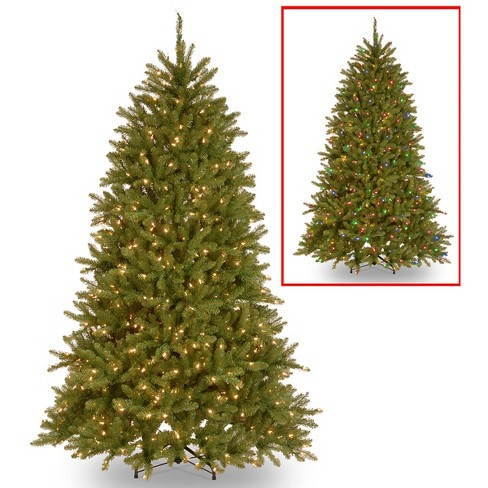 6.5ft National Christmas Tree Company Pre-Lit Dunhill Fir Artificial Christmas Tree with 600 Dual Color LED Lights & Powerconnect - image 1 of 4