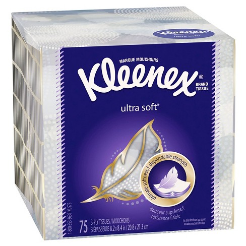 Kleenex Ultra Soft Facial Tissue - 75ct - image 1 of 6