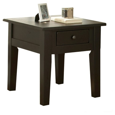 Liberty End Table Antique Black - Steve Silver - image 1 of 3