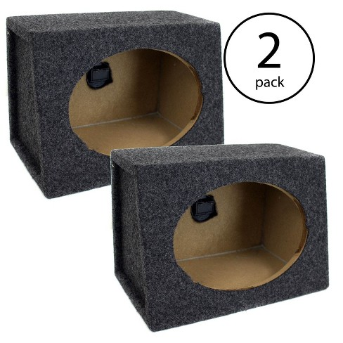 Q Power Angled Style 6 x 9 Inch Car Audio Speaker Box Enclosures, 4 Speakers - image 1 of 4