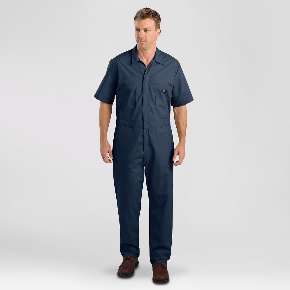 Image of petiteDickies Men's Short Sleeve Coverall - Dark Navy L, Men's, Size: Large, Dark Blue