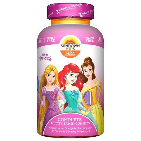 Disney Princess Multivitamin Gummies - Fruit Flavors - 180ct - image 1 of 1