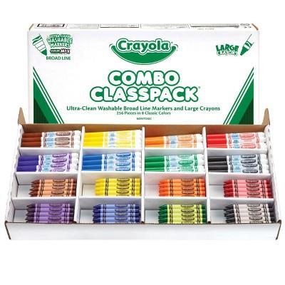 Crayola Washable Marker and Large Crayon Combo Classroom pk, set of 256