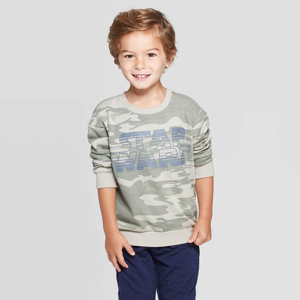 Toddler Boys' Star Wars Long Sleeve T-Shirt – Camo 12M, Boy's, MultiColored