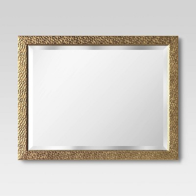 "20.5""x26.5"" Embossed Wall Mirror Brass - Opalhouse™"