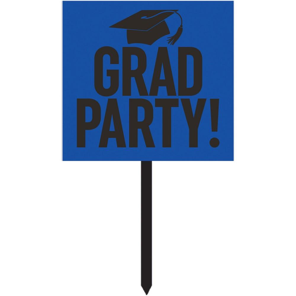 Blue Graduation Yard Sign