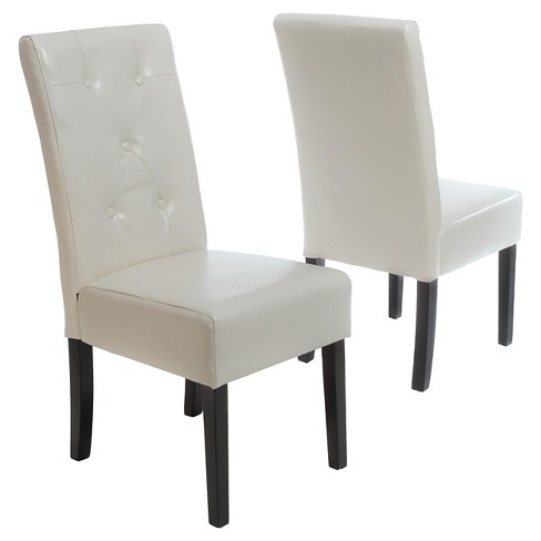 Taylor Dining Chairs Ivory (Set of 2) - Christopher Knight Home - image 1 of 4